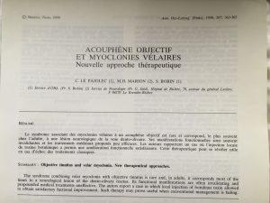 Treatment of palatal myoclonus by botulinum toxin