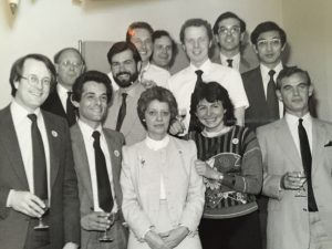 Prof David Marsden and its research group-Denmark Hill 1984